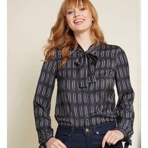 NWT Modcloth Positive Professionalism blouse XS